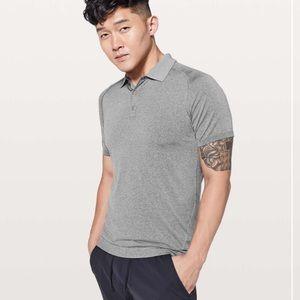 Lululemon Gray Metal Vent Tech Polo Shirt